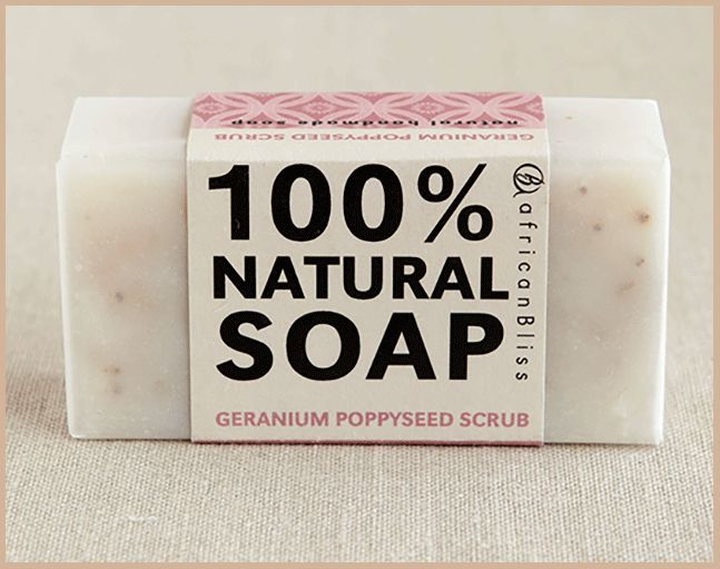 Geranium Poppyseed - African Bliss Soap, R35.00