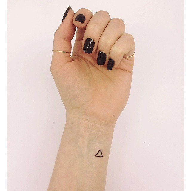 Mini Triangle tiny tattoo idea