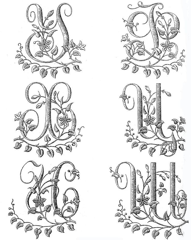 Embroidery Scheme, Lettere
