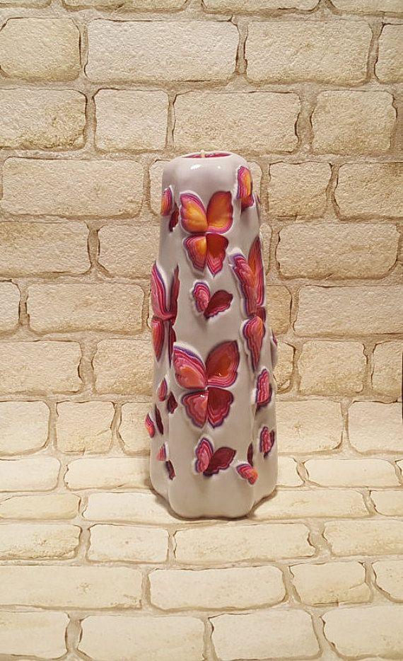 Handmade intagliato candela  cera colorato di LittleCandleShop