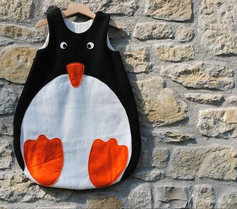 #babysleepingbag #penguin #handmade #AtelierFaggi #aproposde