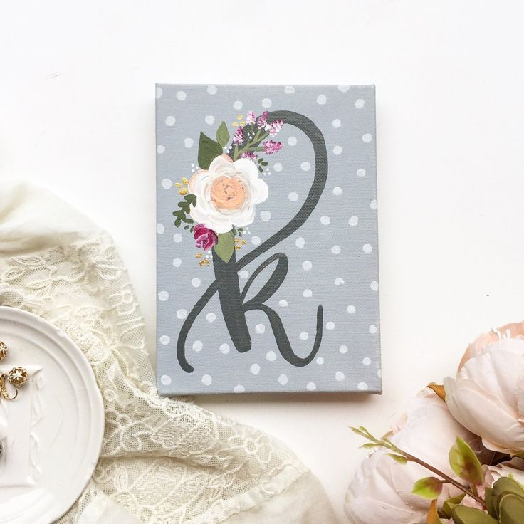 Floral Monogram Canvas