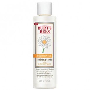 Burt's Bees Brightening Refining Tonic. Even out your skin tone and create a more luminous complexion with this star of Burt's Bees' new skincare line, created with Daisy Extract! #skin #skincare #beauty #health #daisy #floral #burtsbees #natural