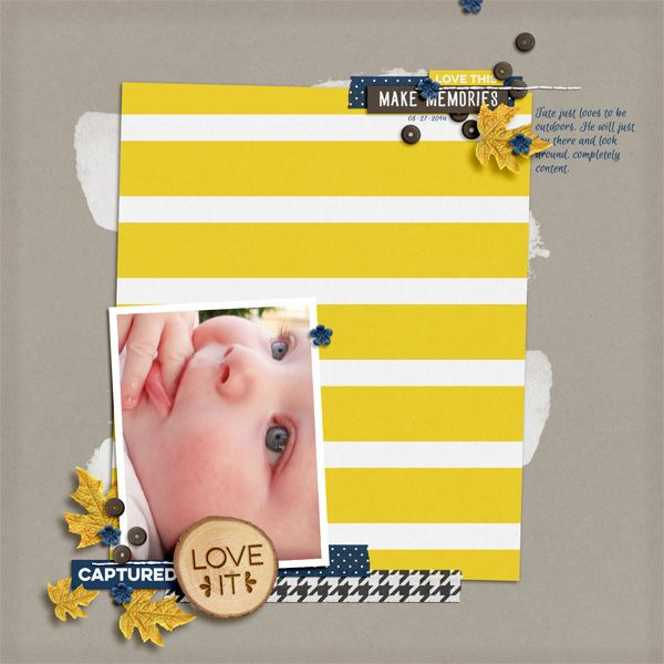 Layout by Hillary - On the Trail | Digital Scrapbooking Kit