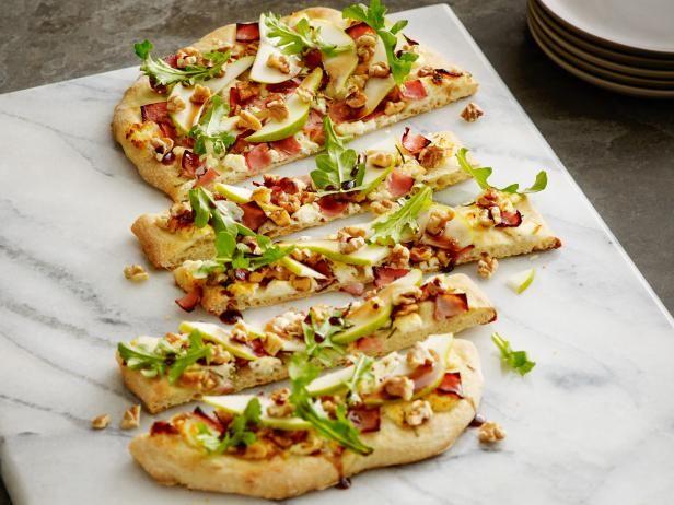 Get Walnut Pear Flatbread Recipe from Food Network