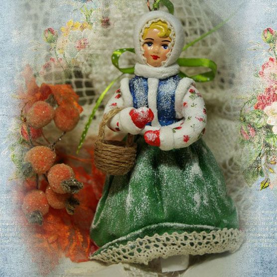 Игрушка ватная «Танцующая девочка».Елена Васько.foreven.ru