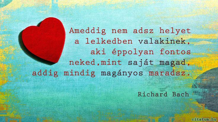 Richard Bach idézet a magányról.