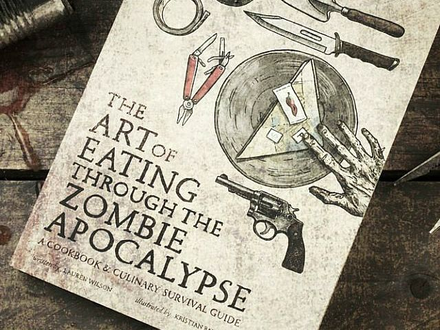 The Art of Eating Through Zombie Apocalypse contains about 80 recipes, each relying on ingredients you can scavenge and forage in a post apocalyptic world.