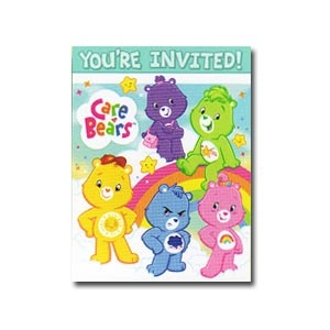 Care Bears Happy Days Invitation/Thank You Note Combos
