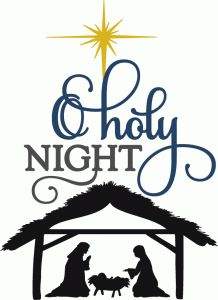 Silhouette Design Store - View Design #69801: o holy night with nativity