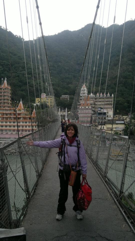 Just arrived to Rishikesh, India. Nov 2011