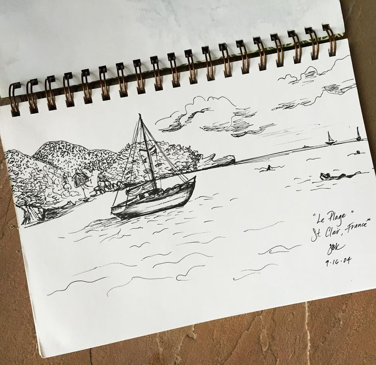 And #StClair #France either before or after a huge kettle of #mussels hot fries and a bottle #rosé with @thewinethief in 2004. #moulesfrites #leplage #cotedazur #mediterranean #lamer #inksketch #sailboat #sailing #wsjoffduty #TheTrianglePlate by sbkunstle