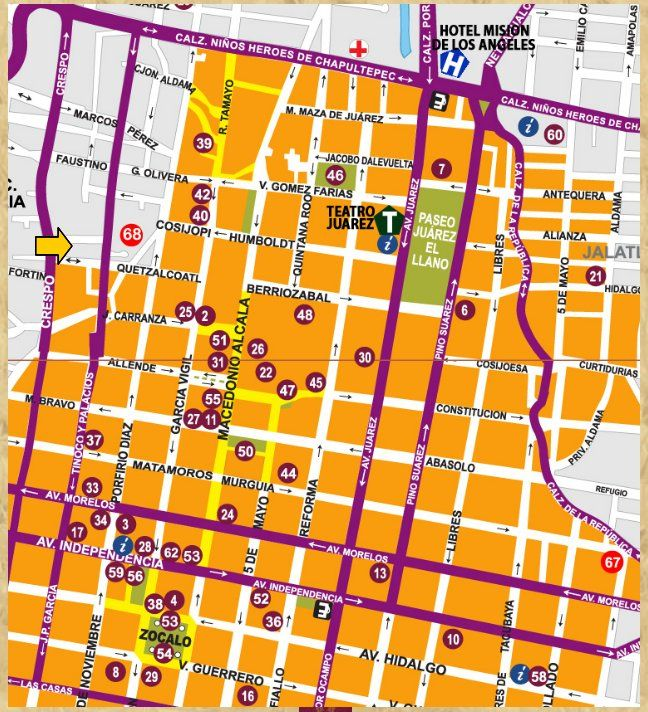 Calles principales Oaxaca
