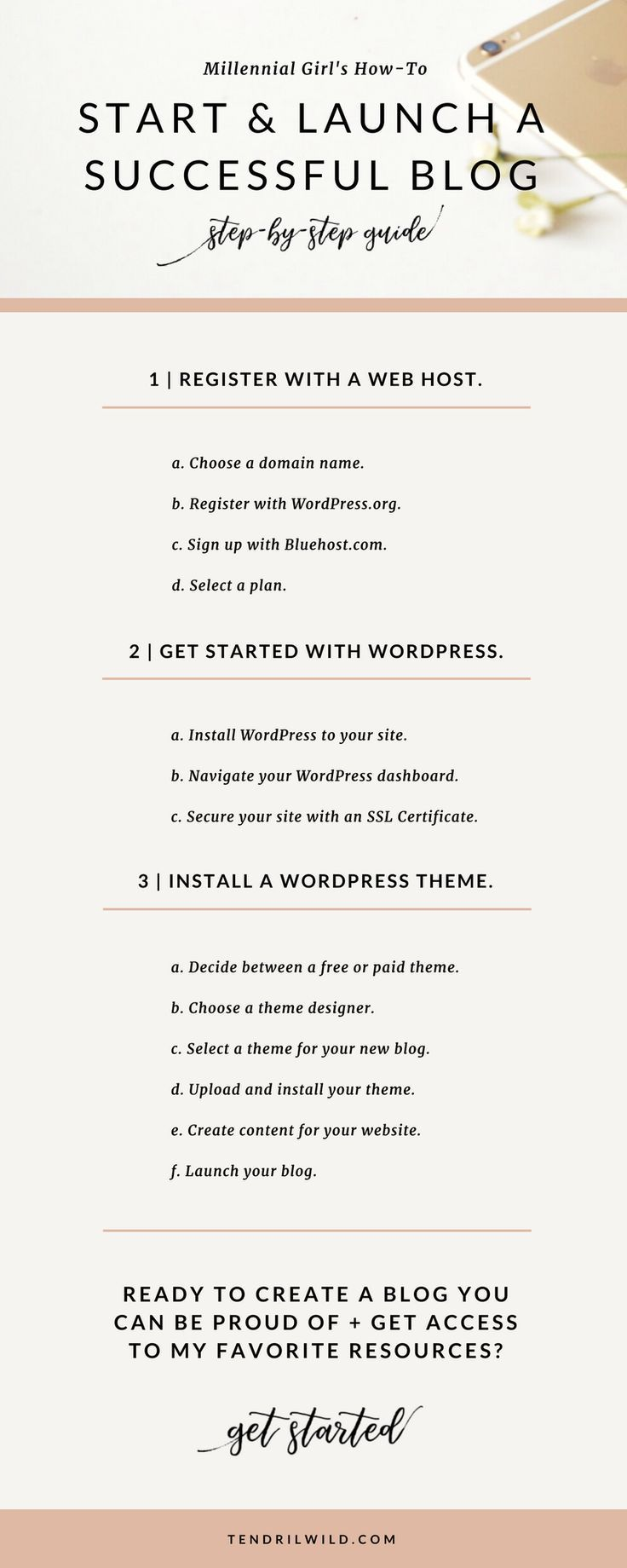 [This blog post contains affiliate links.] Starting a successful blog doesn't have to require a lot of money or time up front. This quick and easy tutorial will show you exactly how to start a WordPress blog and have it up and running in 30 min or less!   Blogging #Tutorial   WordPress Tutorial   How to Start a #WordPress Blog   Create a Blog in 2017   Comprehensive WordPress Guide   Step-by-Step WordPress Guide   #Blogging Guide   Blogging for Beginners   Popular Blogging Resources