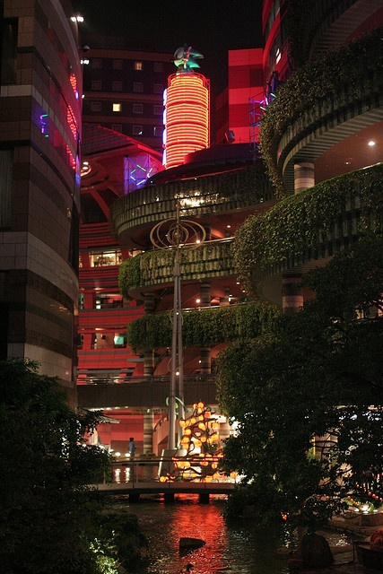 Fukuoka #japan blade runner for real-- Went to this mall all by myself, this is Canal City in Hakata, Fukuoka.