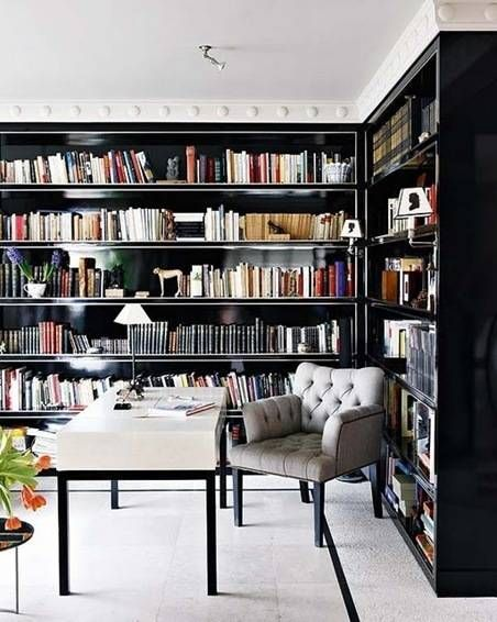 I would love to have floor to ceiling book shelves. My own personal library.