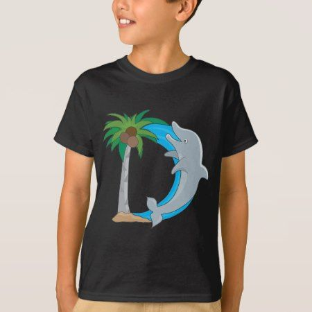 Animal Alphabet Dolphin T-Shirt - tap, personalize, buy right now!