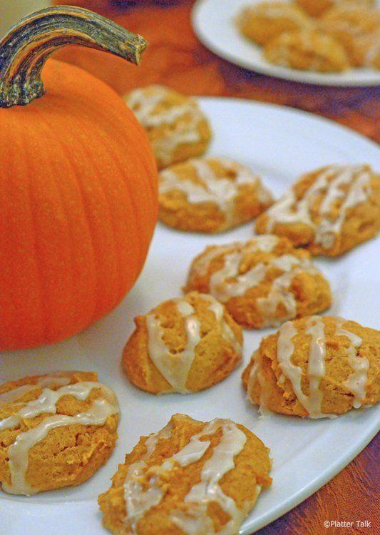 easy pumpkin cookies on platter talk