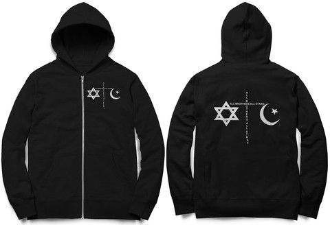 Women's Religion Zip Hoodie With Double Print – ALL BROTHERS ALL STARS