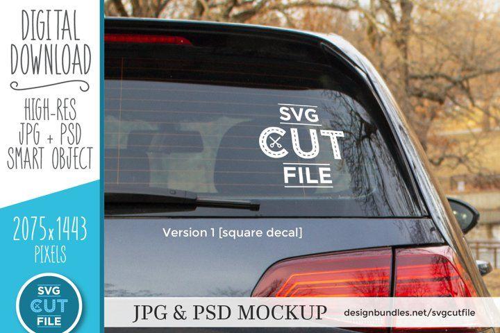 Car Decal Mockup Vinyl Decal Mock Up Car Sticker Psd File 412971 Outdoors Design Bundles In 2021 Car Decals Custom Car Decals Mockup