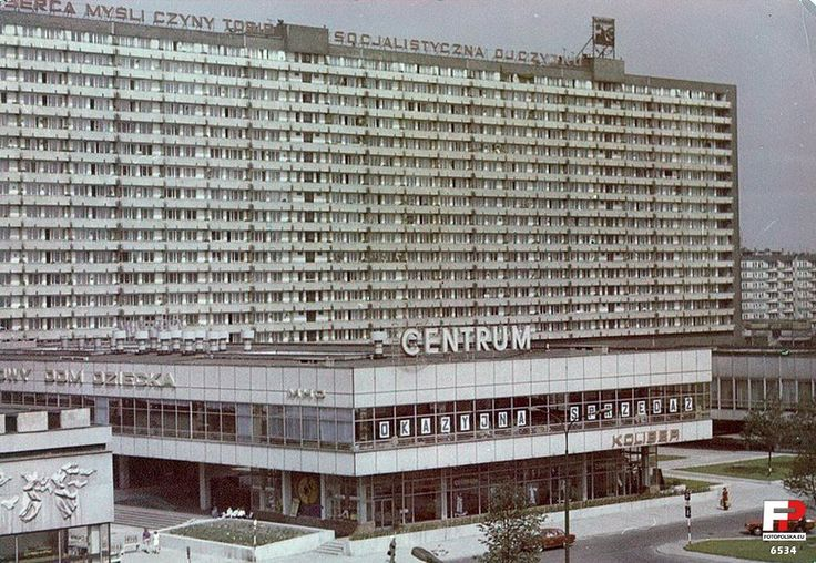 """Superjednostka, 1975 """"Nasze serca, myśli, czyny tobie, socjalistyczna ojczyzno"""" // """"Super unit"""", the massive residential block in Katowice, Poland. Delightfully sarcastic perspective offered by the socialist message on the top. Our hearts, thiughts and deeds forever dedicated to the socialist motherland. Photo from 1975"""