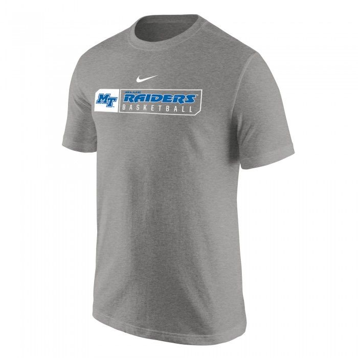 Cheer on your favorite Blue Raiders loudly in this MTSU Nike Basketball  tee. #MTSU