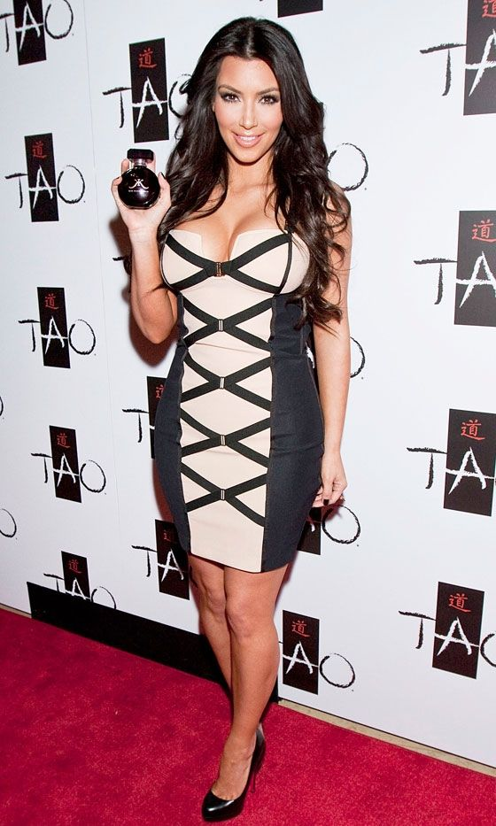 Kim Kardashian Celebrates The Launch Of Her New Fragrance At Tao Nightclub In Las Vegas, February 2010
