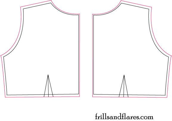 Frills and Flares: Pattern Draft---Empire Waist Dress Back