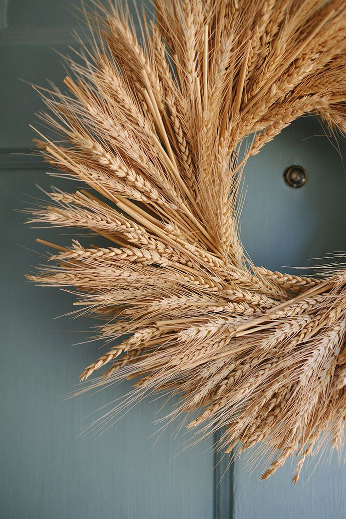 perfect straw wreath.