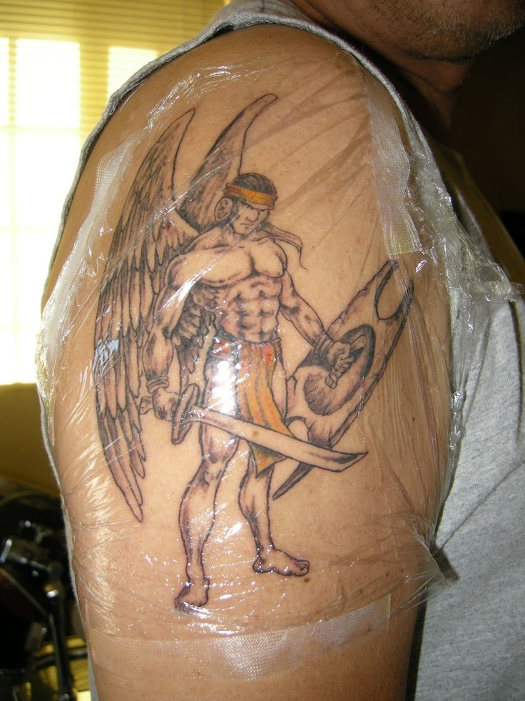20 best images about angel tattoos on pinterest picture for Warrior angel tattoos