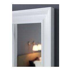 IKEA - HEMNES, Mirror, white, , Can be hung horizontally or vertically.Safety film  reduces damage if glass is broken.Made of solid wood, which is a durable and warm natural material.