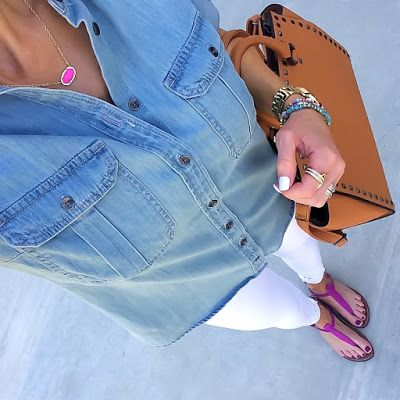 How to Build a Classic Fall Wardrobe   On the Daily EXPRESS   Top: Express   Jeans: Express   Necklace: Kendra Scott   Watch: Fossil   Bracelets: Express   Ring: Rebecca Minkoff (Gift)   Sandals: Nordstrom   Bag: Amazon