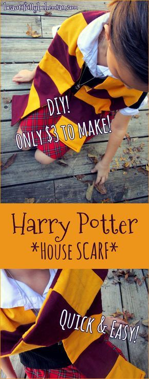 DIY Harry Potter House Scarf- Only $3 to make!