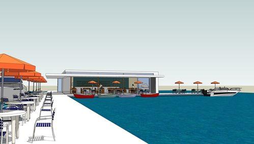 SketchUp Model Pauanui floating restaurant  Nick Hindson
