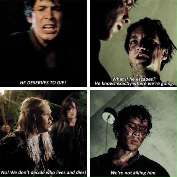 The character development! | The 100 Season 1 & Season 2 | Bellamy Blake | Clarke Griffin | Murphy | twitter
