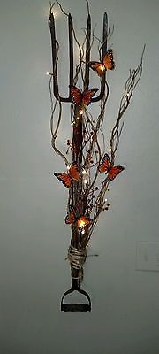 Fall wreath pitch fork butterfly