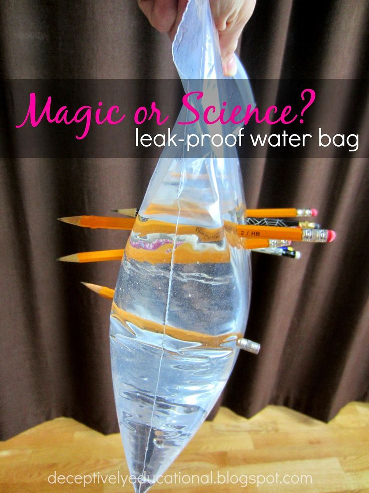 Relentlessly Fun, Deceptively Educational: Magic or Science? Leak-Proof Water Bag