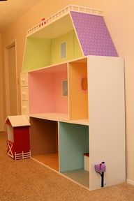 american girl doll house ideas...this would be my dollies dream house...if we added furniture etc.....love this:-) <3  <3<3