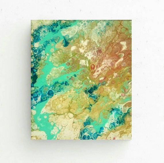 Free shippingAbstract colorful paintingfluid acrylic