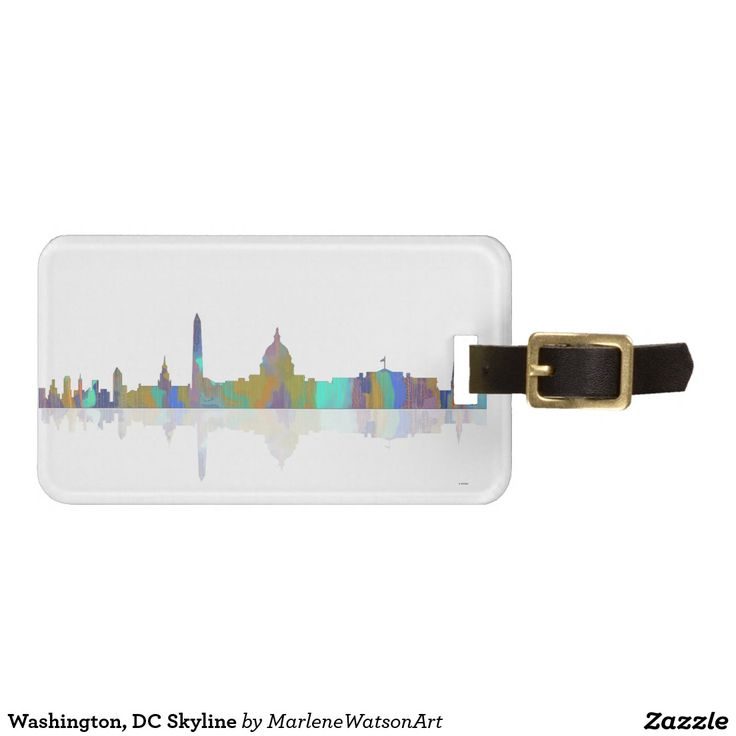 Washington, DC Skyline Tags For Luggage