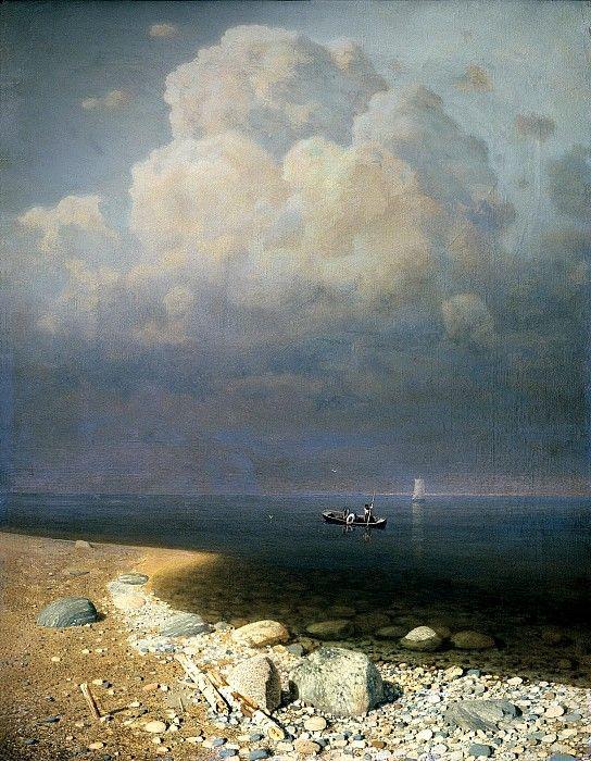 Archip Kwindgy - Russian landscape painter.   КУИНДЖИ Архип - Ладожское озеро.