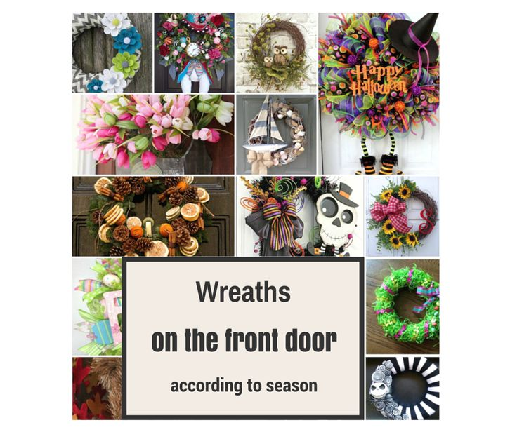 """CRAFTS - tutorials, ideas, inspirations DIY - postupy, nápady a inšpirácie """"urob si sám"""": Wreaths on the front door according to season / Vence na vchodové dvere podľa ročného obdobia"""
