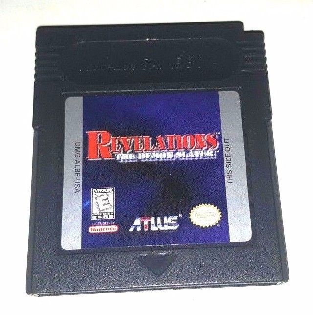 Gameboy Color Game Plays GBC GBA SP REVELATIONS THE DEMON SLAYER Great Action