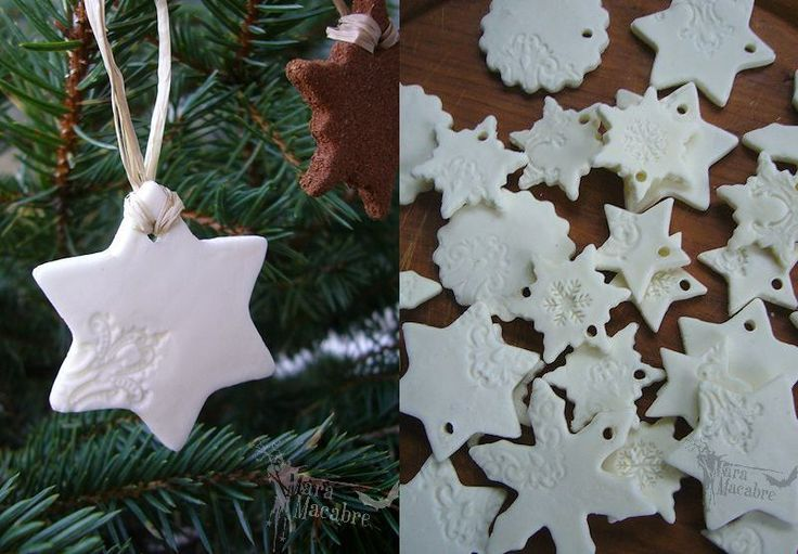 Fake-Porzellan! Nicht nur schön zu Weihnachten. selbst machen aus Stärke, Kleber...