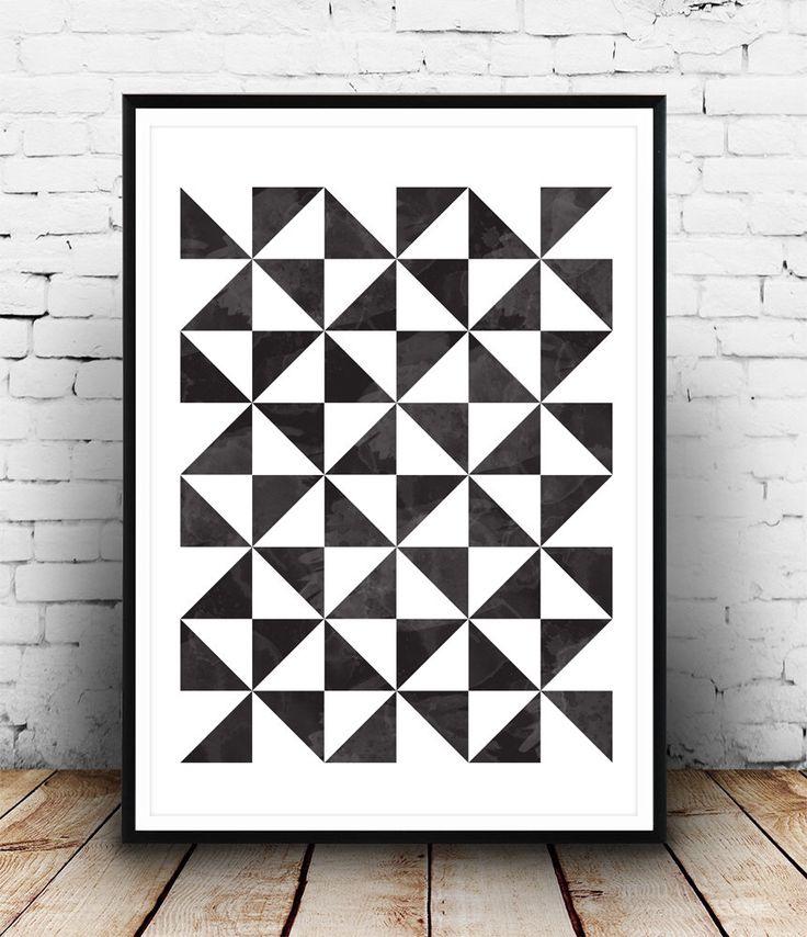 Geometric art print, Scandinavian print, Geometric poster, Abstract poster, Minimalist art, Black and white, Wall art, Print art, nordic art by Wallzilla on Etsy https://www.etsy.com/listing/219417107/geometric-art-print-scandinavian-print
