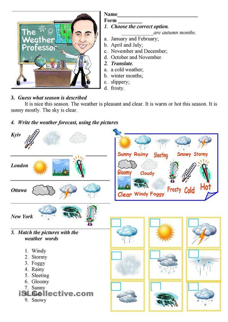 17 best weather images on pinterest printable worksheets english classroom and weather worksheets. Black Bedroom Furniture Sets. Home Design Ideas