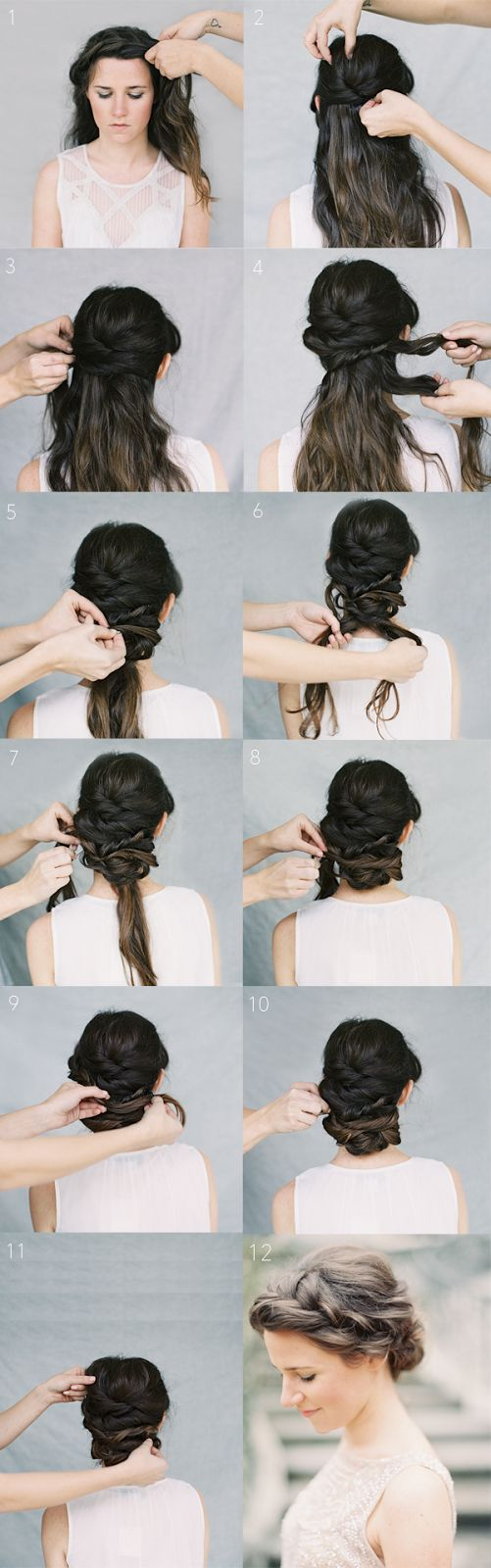 DIY Crown Chignon Braid