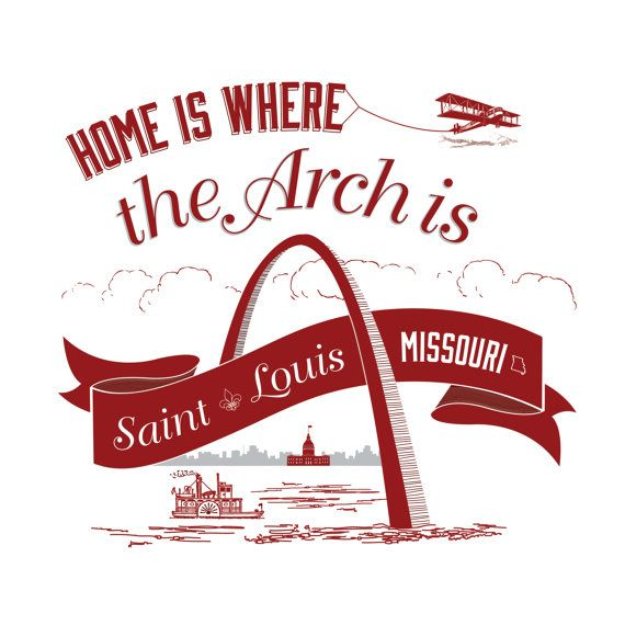 Home Is Where The Arch Is - St. Louis 12 x 12 Print. Etsy Seller, Peated Proverbs.