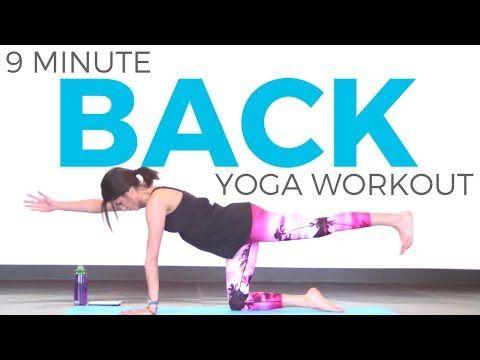 sarah beth 9 minutes power yoga for back  power yoga