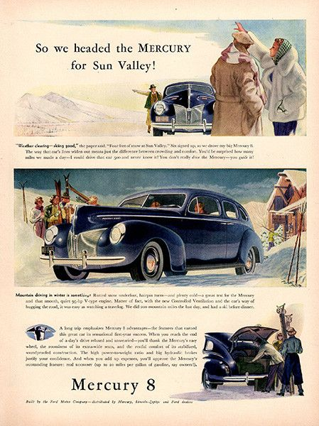 1940 Mercury 8 Original Car Print Ad